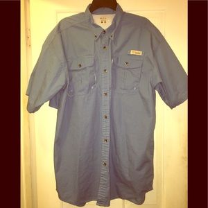 Columbia Mens Short Sleeved Button Down Shirt